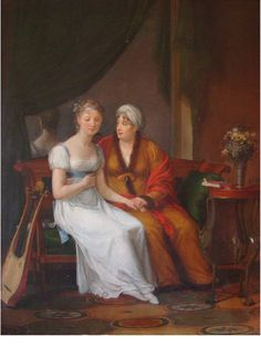 Constance Marie CHARPENTIER - Peintre (1767 - 1849) Une mère recevant la  confidence de sa fille –Salon de 1812 Collection privee (from the site of Gildas Dacre-Wright)
