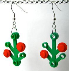 lego holiday earrings
