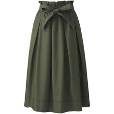 WOMEN HIGH WAIST BELTED FLARE MIDI SKIRT ❤ liked on Polyvore featuring skirts, flared midi skirt, flared hem skirt, high waisted skirts, knee length flared skirts and high-waisted flared skirts