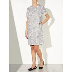 JOHN LEWIS CAPSULE GREY/WHITE MOSAIC DRESS NEW RRP £79