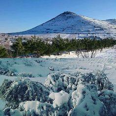 Snow sweida, Syria