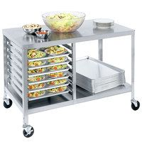 Lakeside 130 Stainless Steel Work Table with Sheet Pan Storage and Lower Shelf - 48 inch x 27 inch x 34 inch