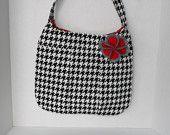 Everyday Houndstooth Pleated Purse Handbag