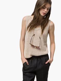 TOP PUNTO - Camisetas - WOMEN - Massimo Dutti SS 2015