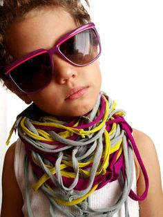 Child-sized recycled scarf by Alphabet Emporium
