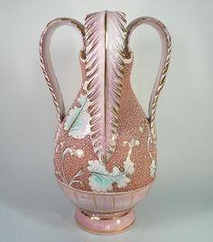 Large Mid Century Modern Italian Pottery Vase Signed B. Melani Italy