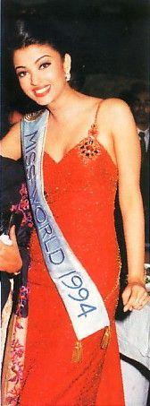Aishwarya Rai Bachchan during her Miss World days.