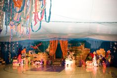This was my prom!  The gymnasium was turned into an underwater fantasy.