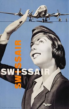 In terms of graphic design, Switzerland is a world leader. Züricher Museum für Gestaltung, the Zurich Design Museum, is currently demonstrating why, in a show that provides an overview of all Swiss design has to offer and is well worth seeing. Retro Poster, Poster Vintage, Vintage Travel Posters, Vintage Ads, Vintage Airline, Vintage Style, Vintage Graphic Design, Graphic Design Inspiration, Photomontage
