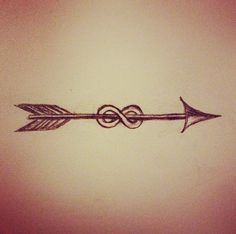 arrow infinity tattoo | small one either on the ankle, wrist, or forearm