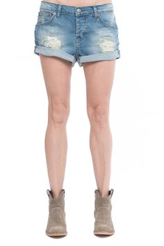 Anine Bing denim shorts. Available in store.