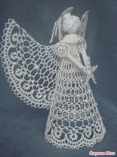 Новогодний мегахваст 2014!!! Много фото. Crochet Angel Pattern, Crochet Angels, Crochet Diagram, Crochet Chart, Thread Crochet, Filet Crochet, Knit Crochet, Pineapple Angel Pattern, Lace Patterns