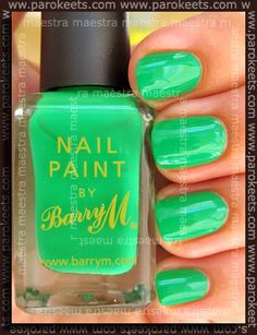 Barry M Spring Green