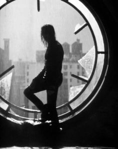 """The Crow... With """"it can't rain all the time"""" around the window"""