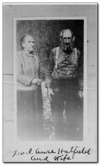Devil Anse Hatfield and wife