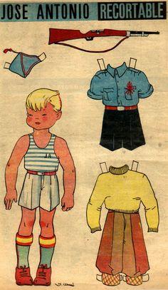 Jose Antonio - Recortable. Publicado en Flecha nº 85 (4 de septiembre de 1938)