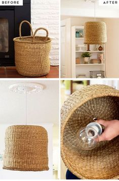 diy home decor projects cheapSimple Diy Kitchen Decoration Ideas 9 DIY Basket pendant Lamp Diy Home Creative Projects All Kinds Of Printi. Diy Kitchen Furniture, Diy Kitchen Decor, Diy Furniture, Kitchen Ideas, Furniture Cleaning, Diy Home Decor On A Budget, Decorating On A Budget, Cheap Home Decor, Decorating Baskets