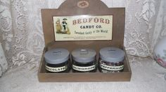 Vintage Bedford Candy Co. Canister Display Set by FabulousFinds1, $69.50