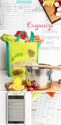 Great tips on how to be Organized with grocery shopping and meal prep. Has cute printables as well to help me with organizing it all.