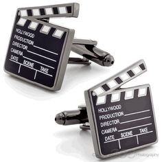 Action! Movie Cufflinks #fashion #jewelry