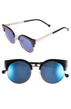 Steve Madden 50mm Round Lens Sunglasses