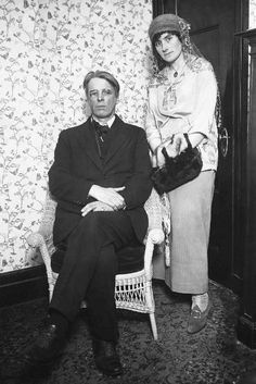 W.B. Yeats with wife Georgie (nee Hyde-Lees)
