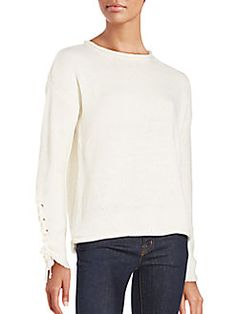 One A - Lace Cord Long Sleeve Sweater