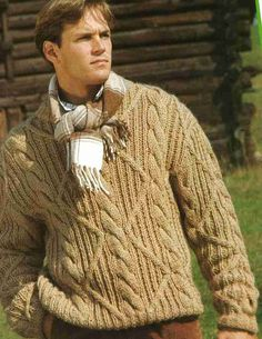 Mens Ribbed Knitted Jumper Pattern PDF No.20 From by TimelessOne