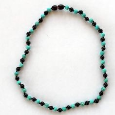 Turquoise and amber necklace - stunning Baltic Amber Teething Necklace, Amber Necklace, Beaded Necklace, Anklets, Turquoise Necklace, Pretty, Beautiful, Jewelry, Beaded Collar