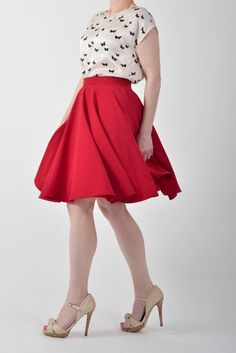 Acheter 1 jupe jupe 2ème à-50 % jupe cercle rouge, plein de jupe - code promo SKIRTS2 par Mokkafiveoclock sur Etsy https://www.etsy.com/fr/listing/115204309/acheter-1-jupe-jupe-2eme-a-50-jupe