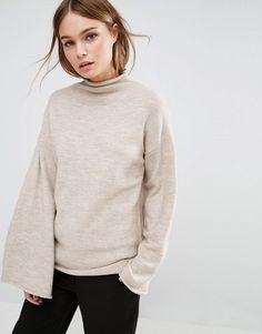 Image 1 - Fashion Union - Pull à col montant avec manches larges