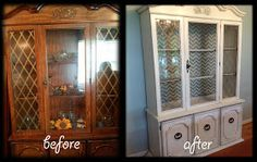 Home Sweet Hurn: China Cabinet Makeover