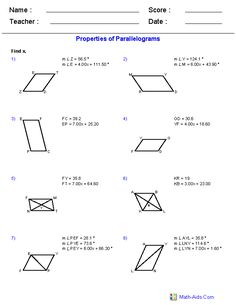 Area of Polygons Worksheets Free | Geometry Worksheets ...