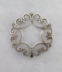 Finland Signed Kalevala Koru Sterling Silver Filigree Brooch Pin by Framarines on Etsy Sterling Silver Filigree, Finland, Brooch Pin, Brooches, Scandinavian, Vintage Items, Im Not Perfect, Flaws, Bling