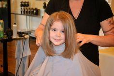 First Haircut - JennySue Makeup Kids Girl Haircuts, Bob Haircut For Girls, Toddler Haircuts, Baby Girl Hairstyles, Long Bob Haircuts, Long Bob Hairstyles, Toddler Bob Haircut, Toddler Haircut Girl, Girls Haircuts Medium