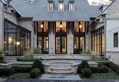 greige: interior design ideas and inspiration for the transitional home : Dark trimmed windows and doors...