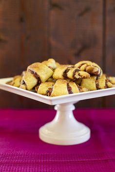 chocolate raspberry almond rugelach  {Annie's Eats}