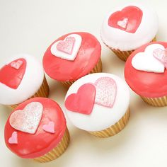 Valentine's Day Cupcakes by FrostedCupcakes, via Flickr