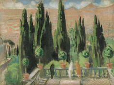 The Athenaeum - Villa d'Este (Maurice Denis - ) Maurice Denis, Art Français, Avant Garde Artists, Fauvism, Religious Art, Landscape Art, Van Gogh, Mystic, Abstract Art