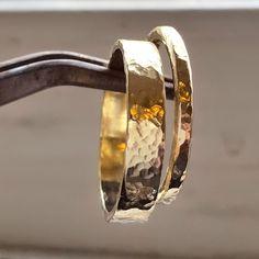 14k Wedding Ring Band Pair - Handmade Rings - Wedding Rings Set - For Her - For Him - Gold Rings - Stacking Gold Rings - VenexiaJewelry by VenexiaJewelry on Etsy https://www.etsy.com/listing/208725110/14k-wedding-ring-band-pair-handmade