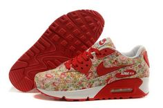 competitive price f94e2 cea1b Nike Air Max 90 Womenss Shoes Flower Red New Sweden  shoes -