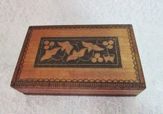 Wood Carved Box Handmade in Poland Vintage Wood by BeanzVintiques