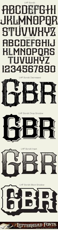 Letterhead Fonts / LHF Bandit font set / Western FontsFosterginger.Pinterest.ComMore Pins Like This One At FOSTERGINGER @ PINTEREST No Pin Limitsでこのようなピンがいっぱいになるピンの限界