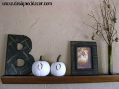Painting Pumkins and How to use them! | Designed Decor