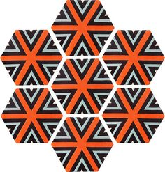 Honeycomb Carpet - Cubist (7 piece Hexagon)
