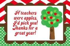 FREE Teacher Appreciation Thank You Cards