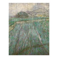 Wheat Field in Rain by Vincent Van Gogh Personalized Flyer