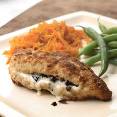 This is one case where it's OK to overboard on olives. Recipe: Provolone and Olive-Stuffed Chicken Breasts   - Delish.com