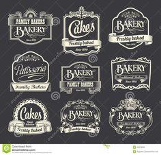 Vintage Bakery Signs   -sign-label-design-set-vintage-retro-labels-signs-menus-bakery ...
