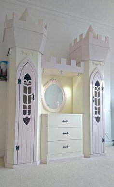 Princess Dream Fairytale themed Wardrobe and Dresser design by Dreamcraft Furniture